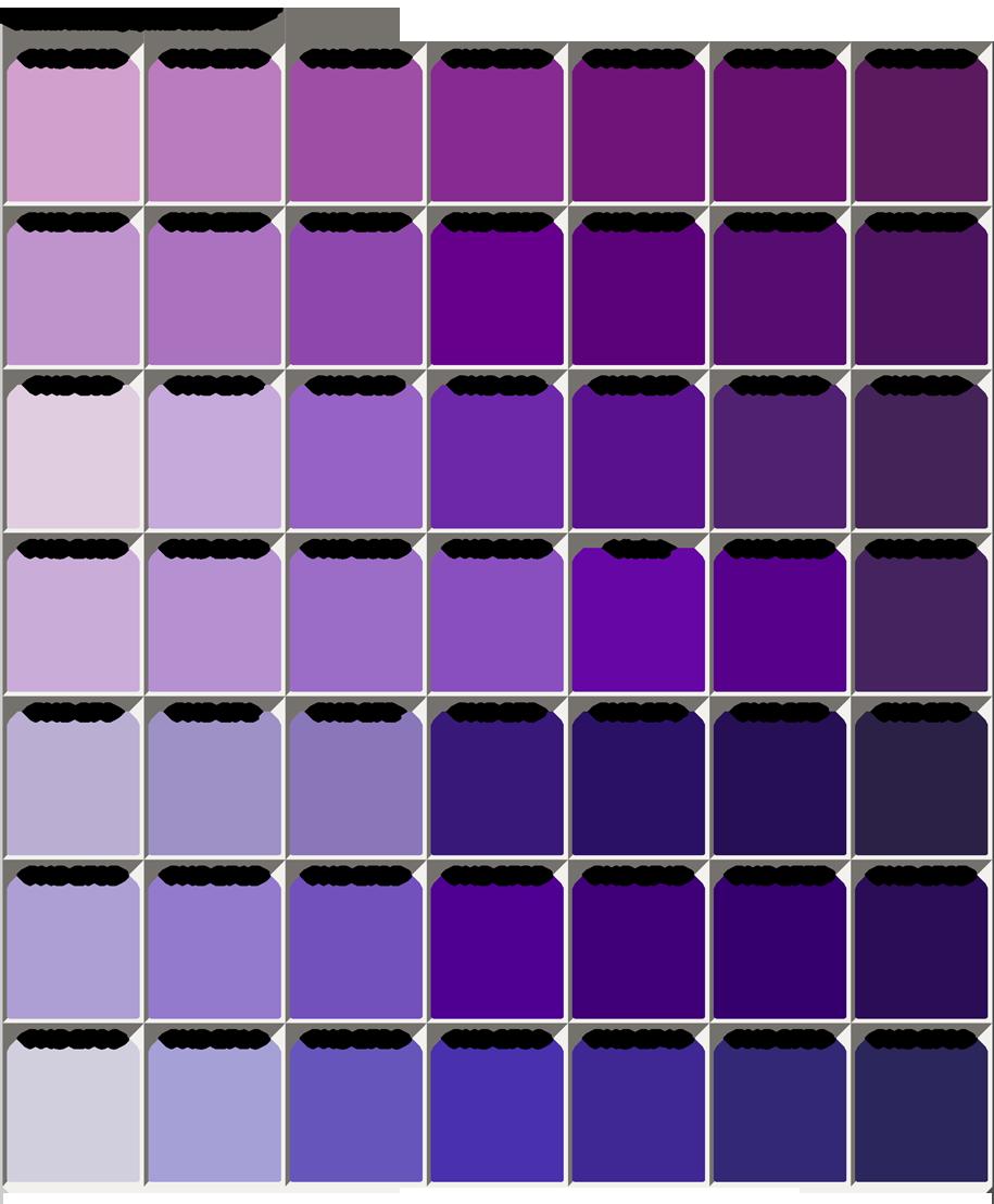 purple color chart color