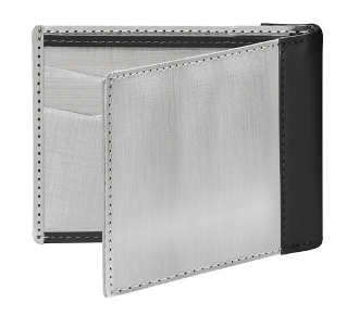 Bill Fold Wallet Stainless, Black