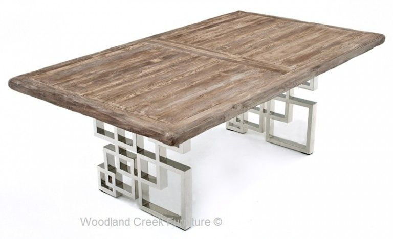 Dining Table With Modern Geometric Base Contemporary Dining