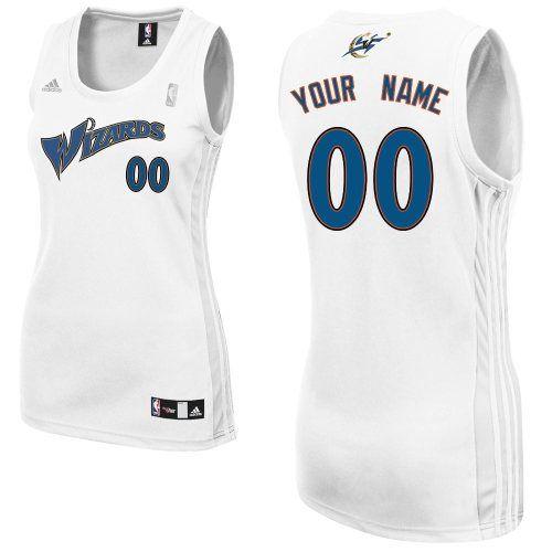 customized nba tailored fit design swingman washington wizards women home white adidas jerseys