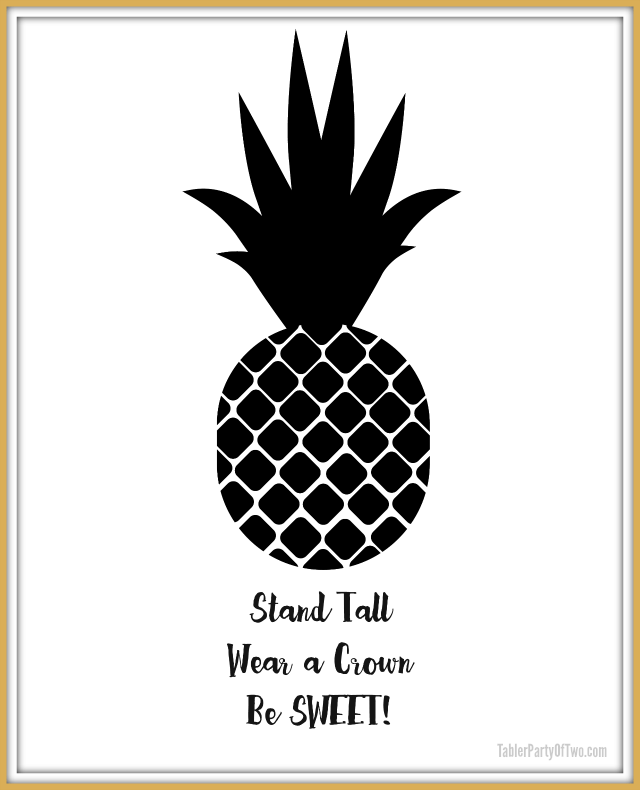 picture regarding Printable Artwork identify Totally free Pineapple Printable Art Tabler Get together of 2 Website