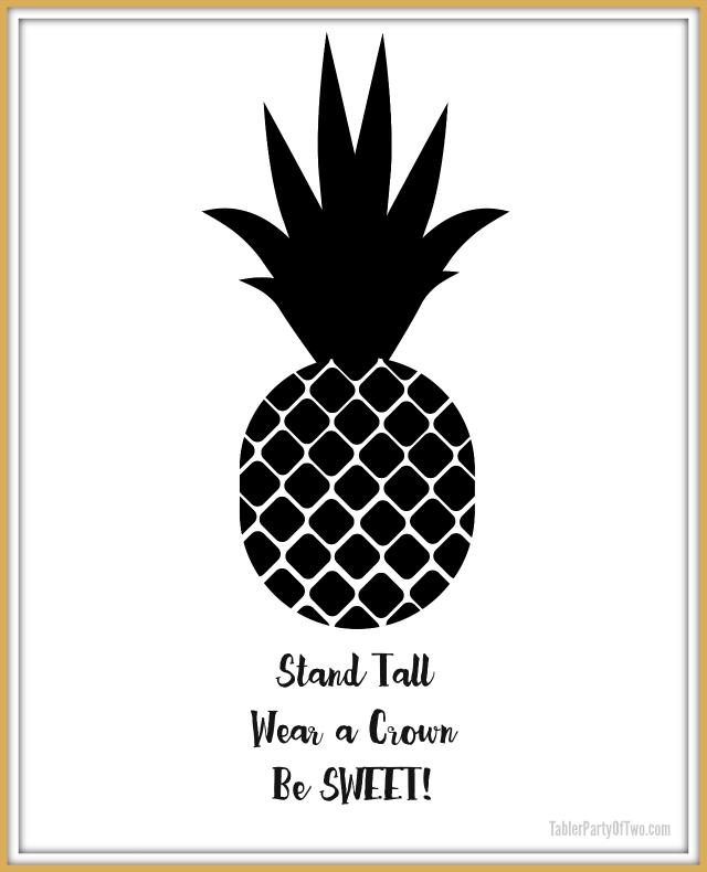 graphic regarding Printable Artwork named No cost Pineapple Printable Art Tabler Occasion of 2 Website