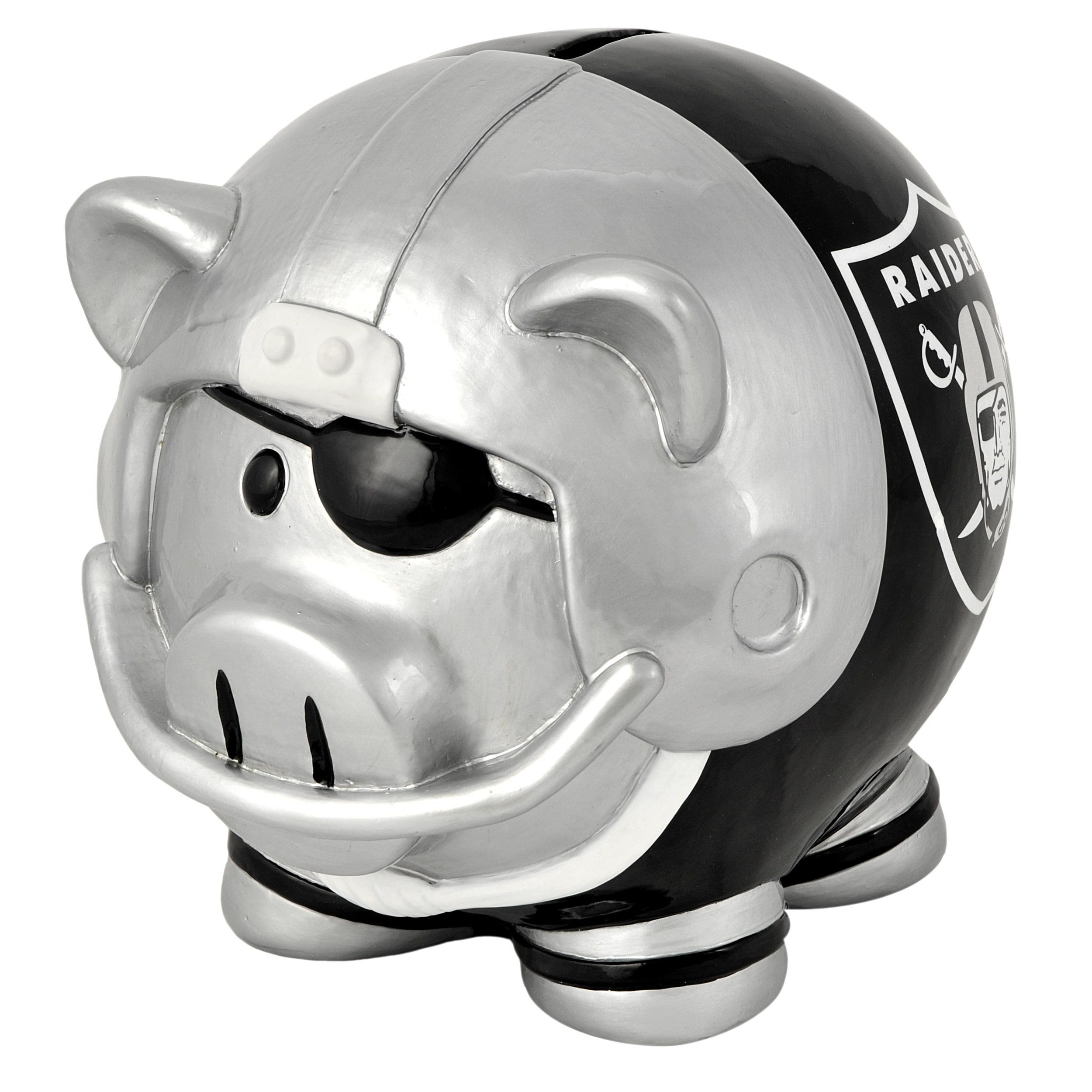 Forever Collectibles NFL Oakland Raiders Thematic Resin Piggy Bank ...