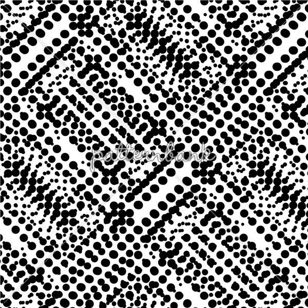 Black white geo pattern made with dots in repeat dots 3dds07