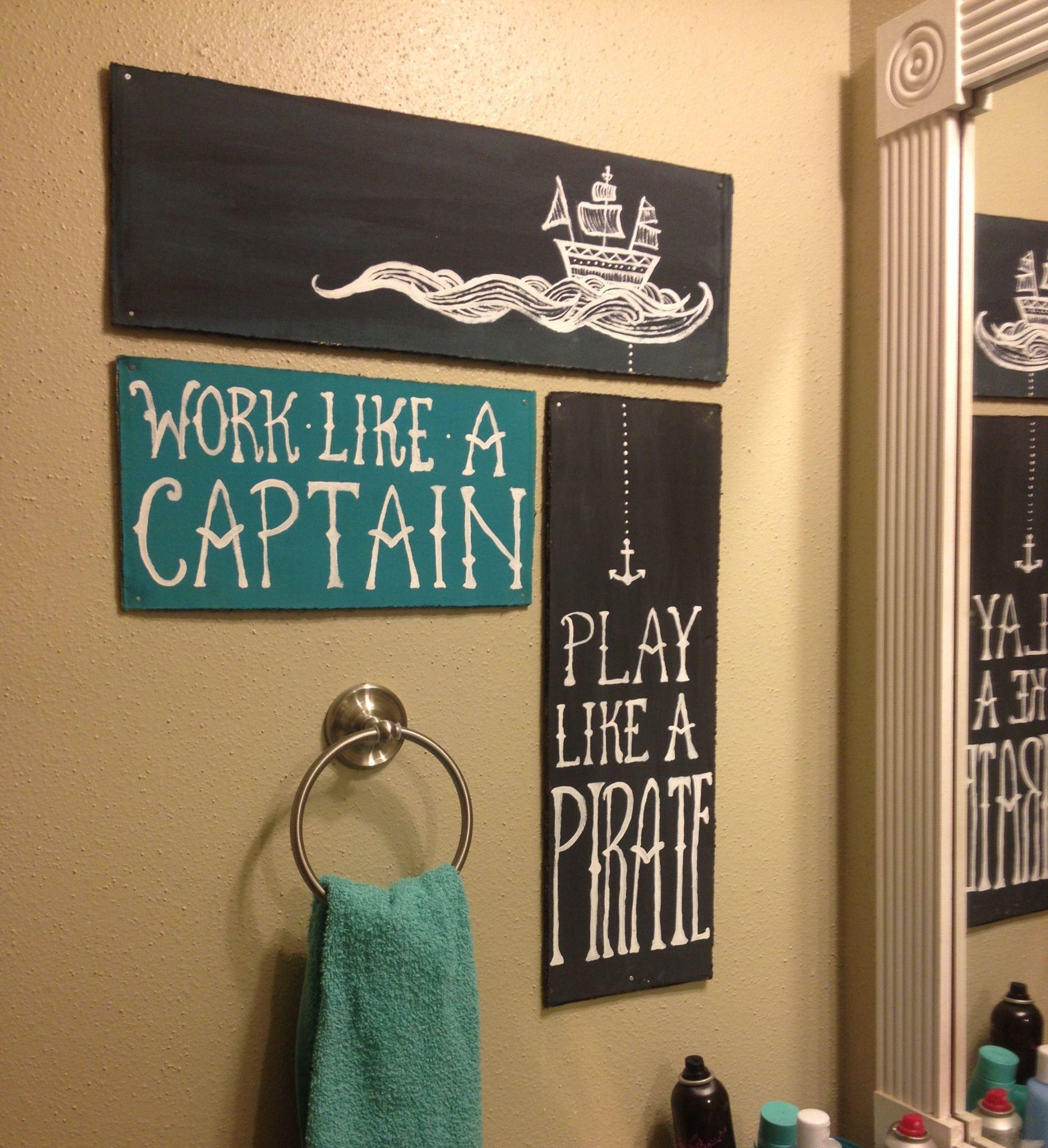 Great For Our Pirate Bathroom With Images Mermaid Bathroom Decor Kid Bathroom Decor