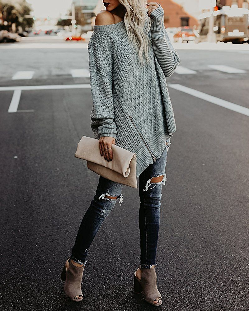 2019 year for women- How to oversized wear sweaters pinterest