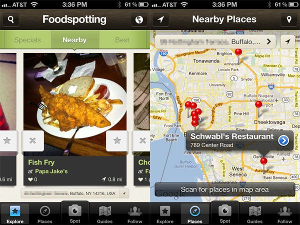 This is our Maiden app of the month.  Go, foodies go!