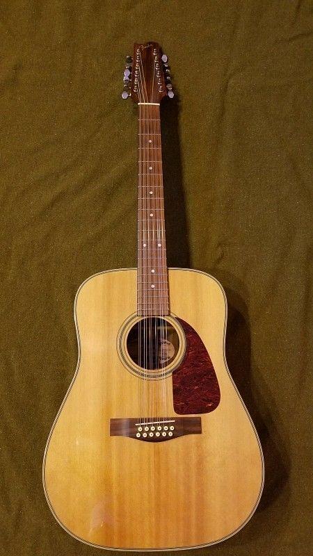 Vintage Fender F 330 12 String Acoustic Guitar