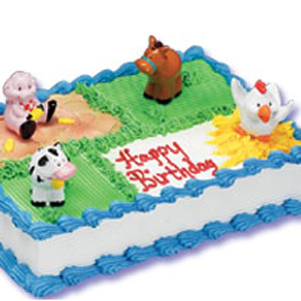 Cake Decorating Theme Kits : 4 Mini Farm Vinyl Figures (Caw, Pig, Chicken & Horse) @ USD6 ...