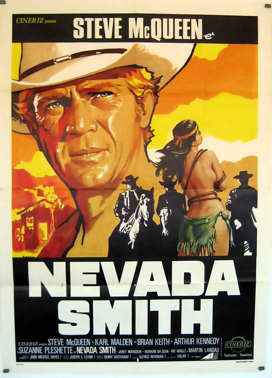 Movie Posters And Lobby Cards Top Catalog Westerns 18720 Nevada Smith Carteles De Películas Famosas Carteleras De Cine Carteles De Cine