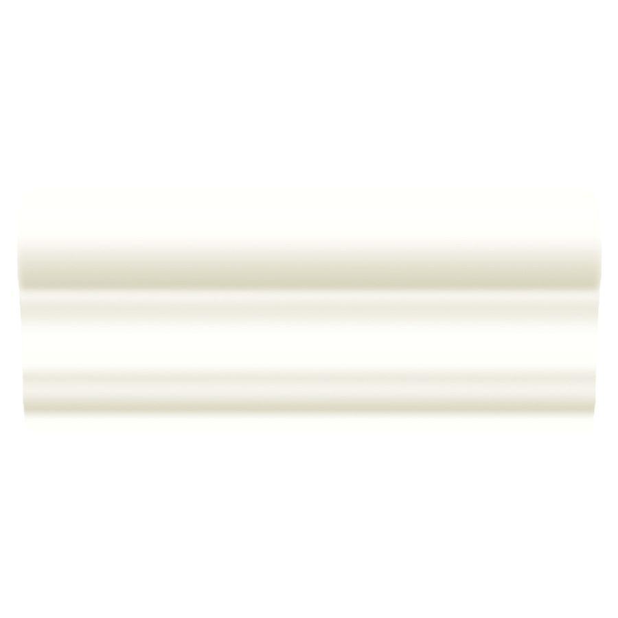 American olean linea gloss ice white ceramic chair rail