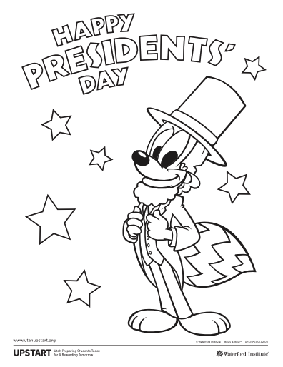 President S Day Coloring Page Coloring Pages Presidents Day Color