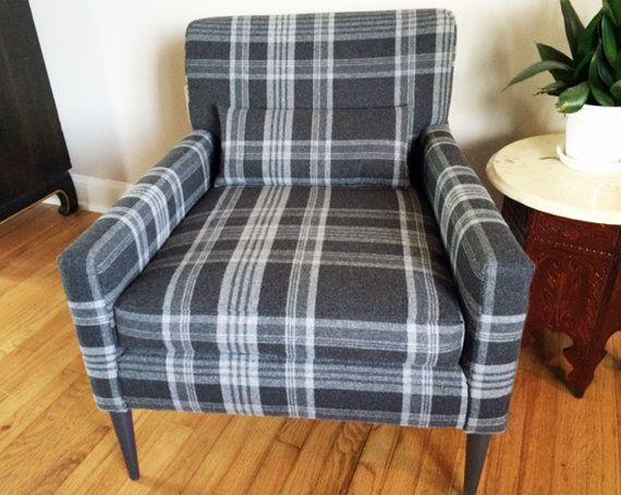Modern Furniture Upholstery sold mid century modern arm chair new upholstery ralph lauren