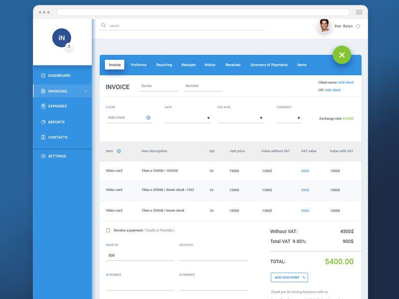 Invoice App App - invoice web app