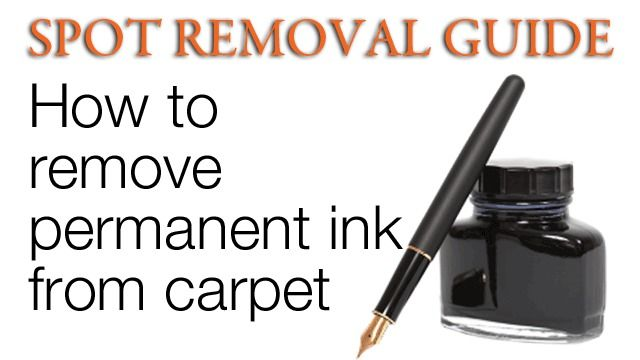 How to Remove Ink stains from Carpet - Ink Stains on ...