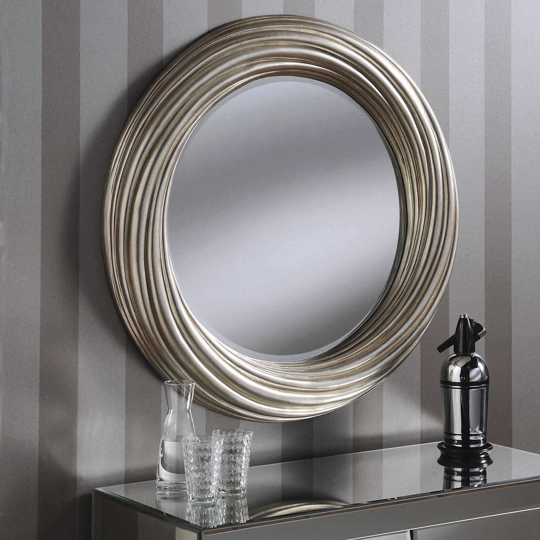 Yearn Twist 86cm Wall Mirror In Silver Next Day Delivery Yearn Twist 86cm Wall Mirror In Silver From Worldstor Fireplace Mirror Round Wall Mirror Mirror Wall