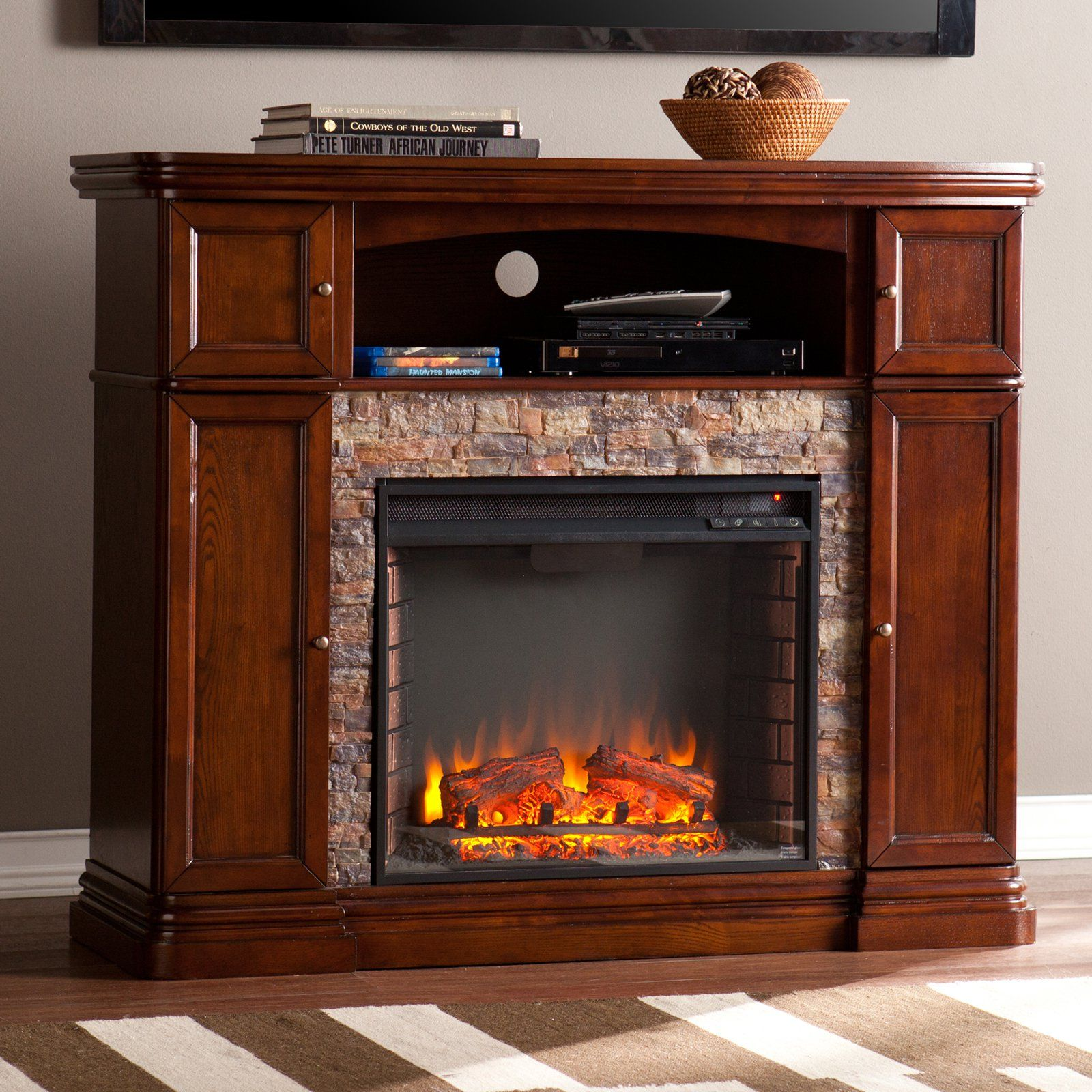 Southern Enterprises Hillcrest Electric Fireplace Electric Fireplace