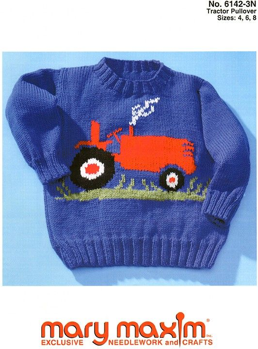 Use Mary Maxim DK/Sport Weight yarn to knit this sweater.   knits ...