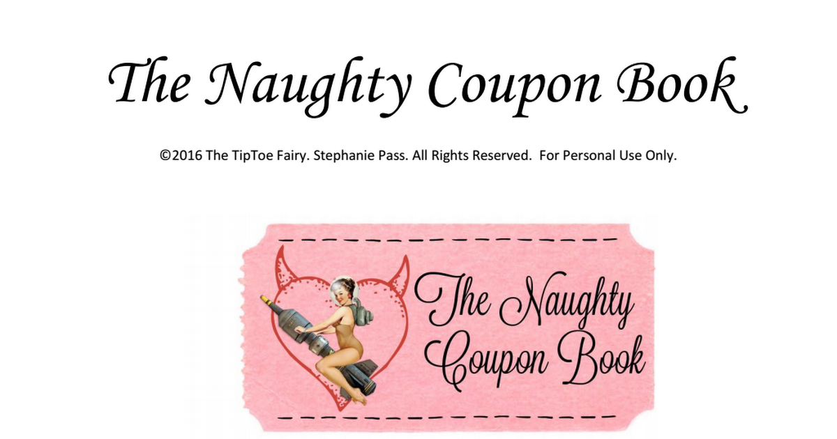 photo relating to Free Printable Kinky Coupons named A-Naughty-Coupon-Ebook.pdf Do-it-yourself Present Suggestions Birthday