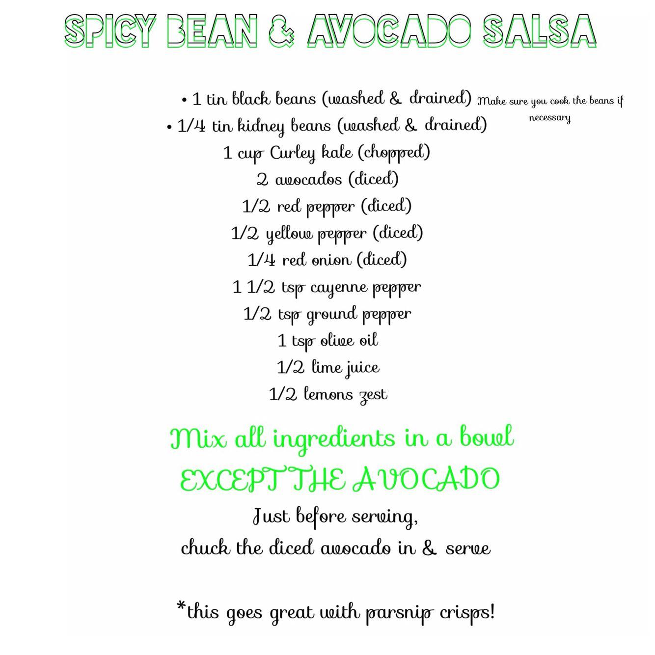 Spicy bean & avocado salsa