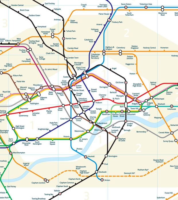 revamped more geographically accurate london tube map design by mark noad