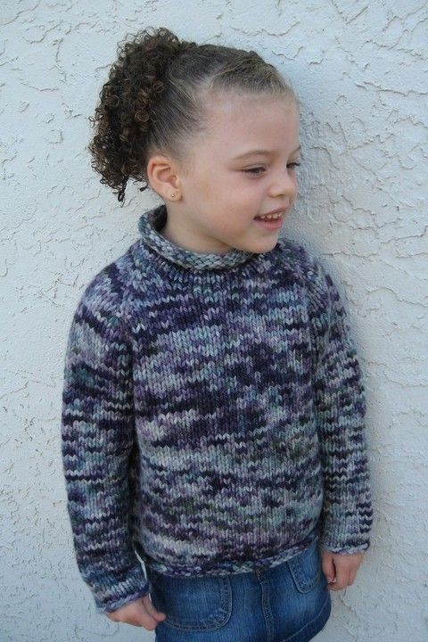 c8b9564a5 Knitting Pure and Simple - 112 - Children s Bulky Top Down Pullover ...