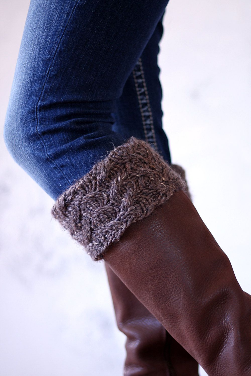 Be BRAVE - Women's Boot Cuff Cable Knitting Pattern - a ...