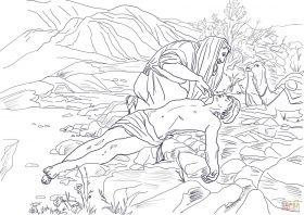 Good Samaritan coloring page | Free Printable Coloring Pages