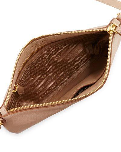 4050ea81032d PRADA Vitello Daino Medium Pouch Crossbody Bag.  prada