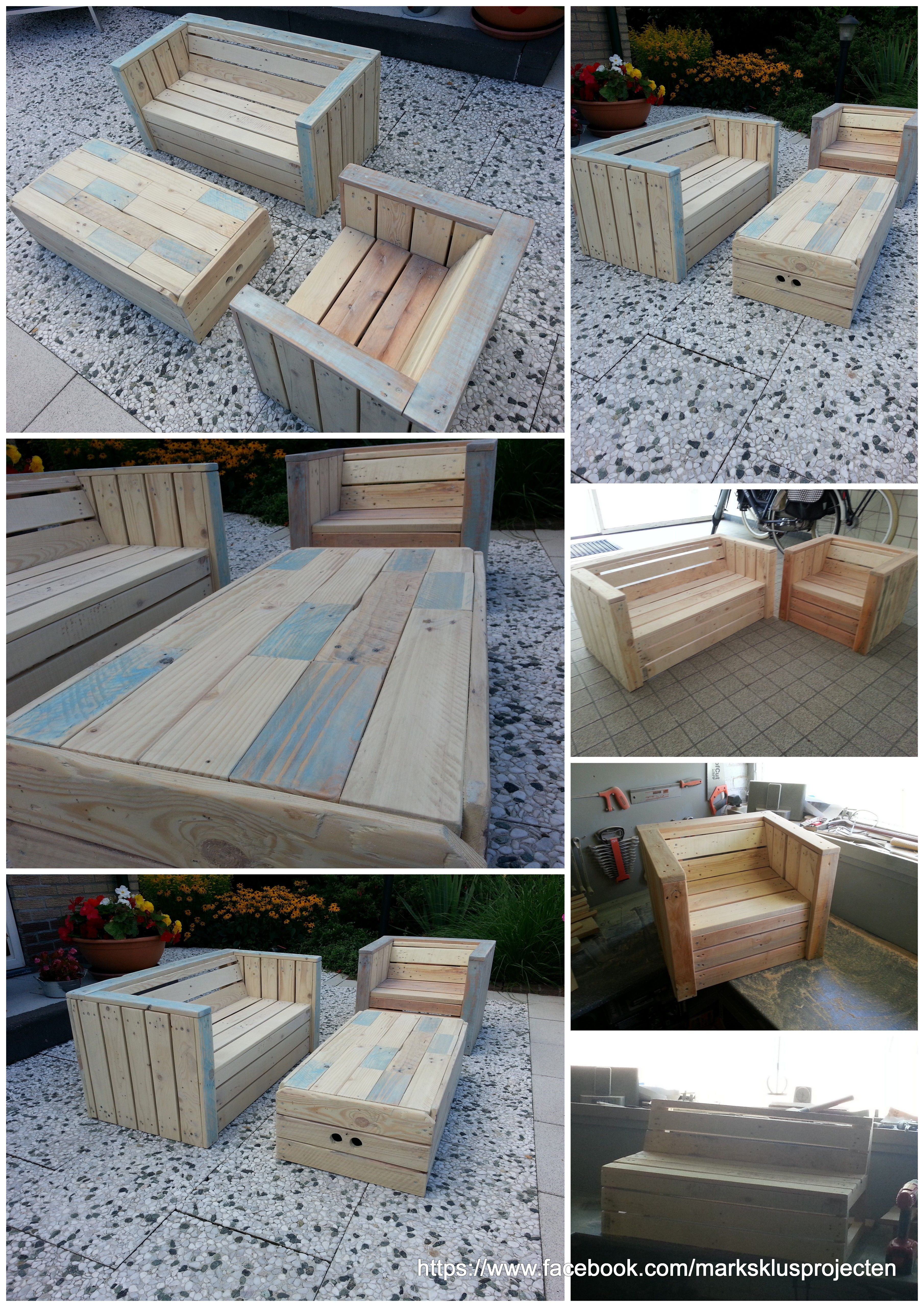 Little childrens lounge set made out of recycled pallet wood. For ...