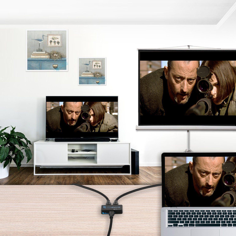 PORTTA 2 Port 1x2 Hdmi Splitter V 1.3b compatible c1.4 3D 1080p swither 5 8 PS3