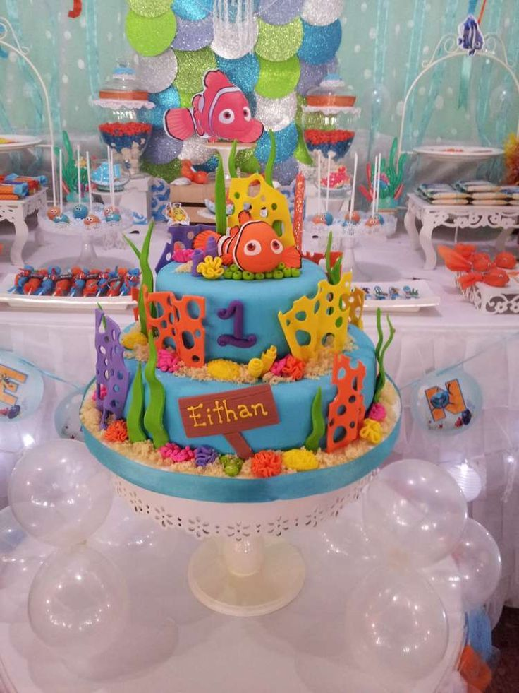finding nemo Birthday Party Ideas Finding nemo and Cake