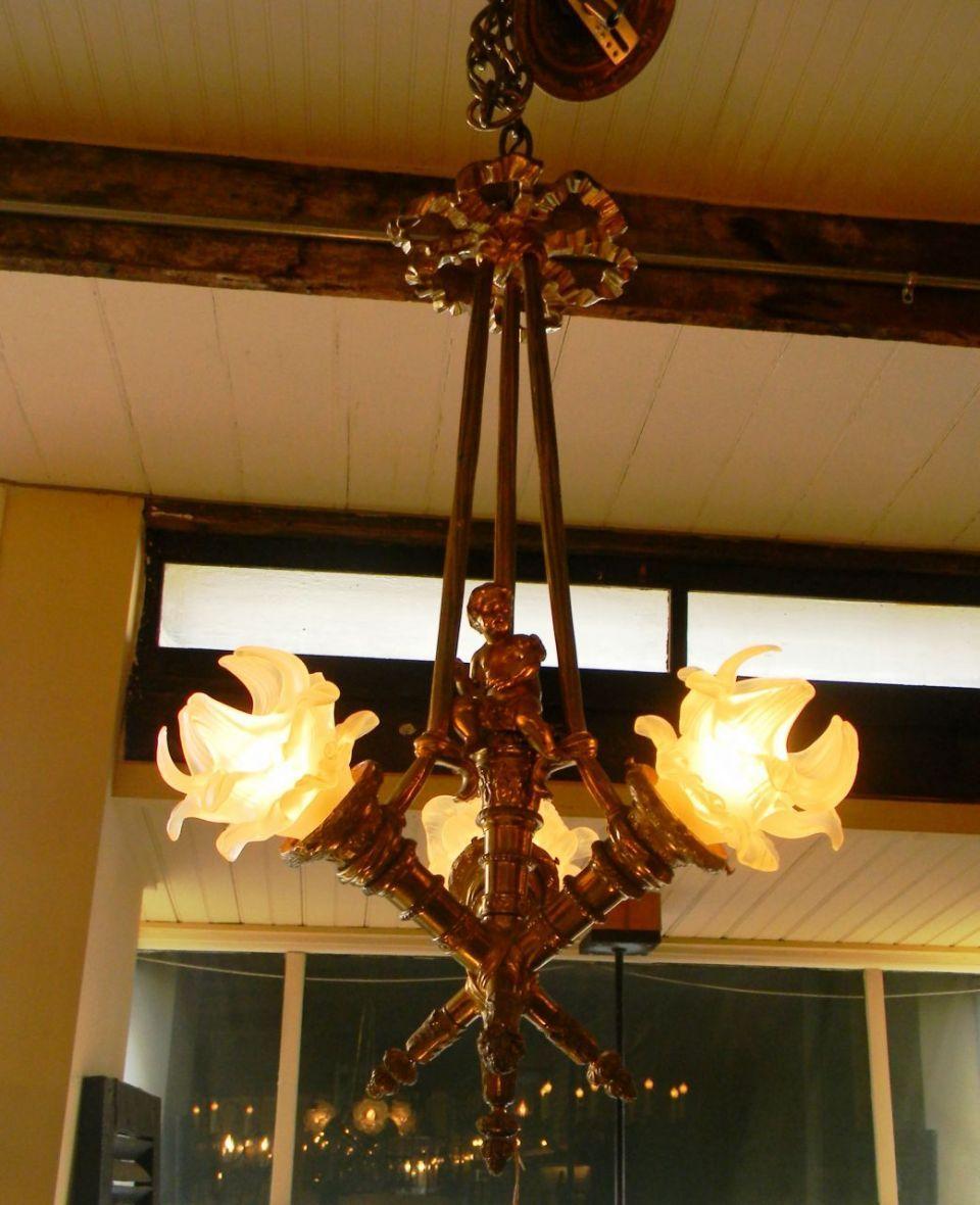 Bronze cherub chandelier lighting pinterest antique chandelier bronze cherub chandelier antique arubaitofo Gallery