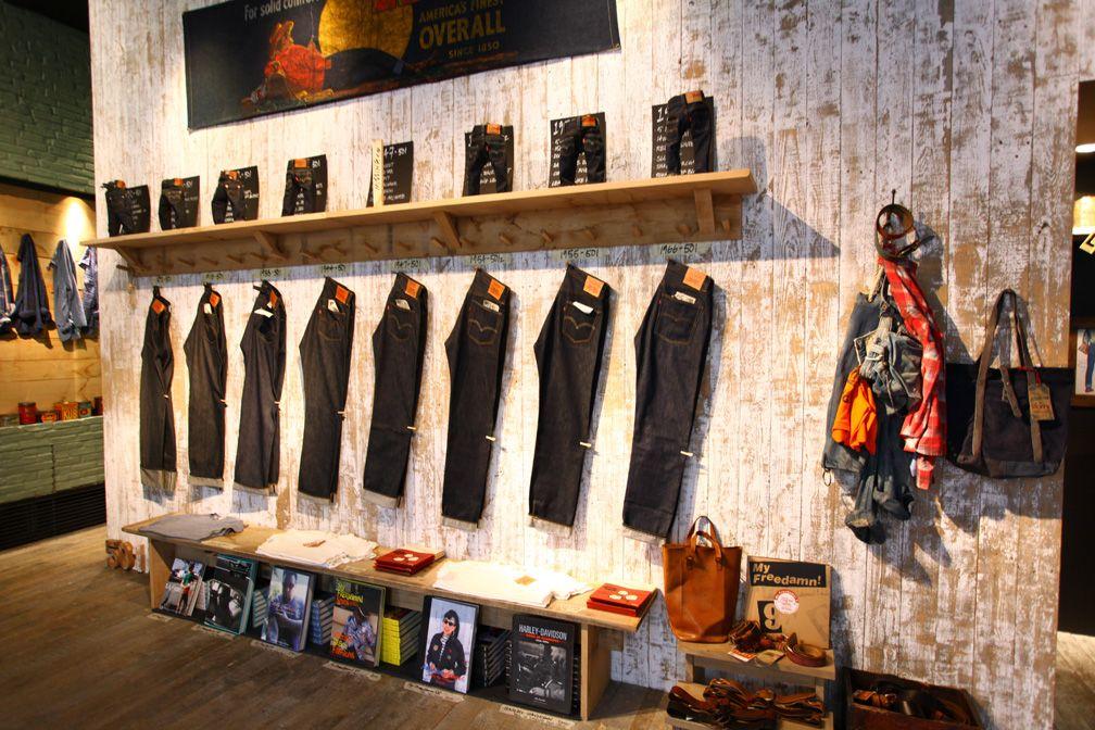 Levi S Vintage Clothing Tokyo Store Design Vintage Vintage Clothing Stores Levis Vintage Clothing