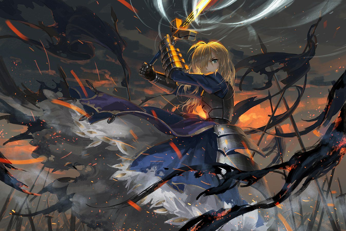 Anime Fate Stay Night Woman Warrior Saber Fate Series Sword Blonde Excalibur Woman Armor Wallpaper Fate Stay Night Fate Stay Night Anime Fate Stay Saber Wallpaper anime fate stay saber fate