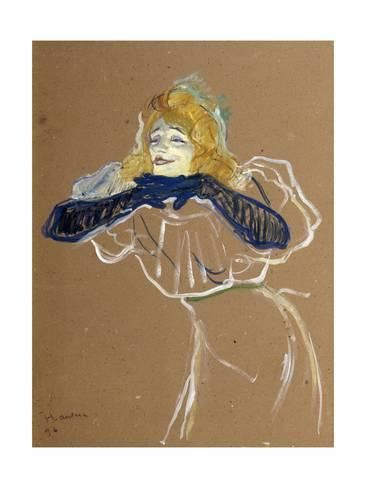 The Singer Yvette Guilbert 1894By Henri de Toulouse