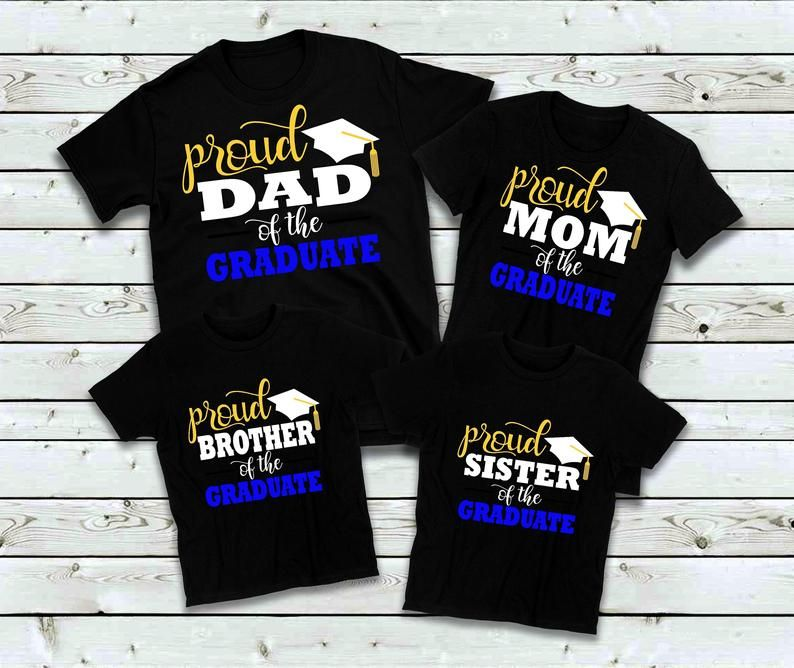 Graduation Shirts for Family Family Matching Proud