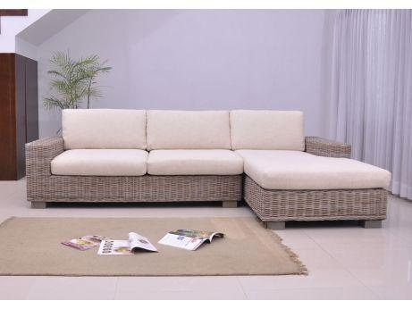 Canapé du0027angle rotin HEVEA meuble en rotin Pinterest Salons - salon d angle de jardin