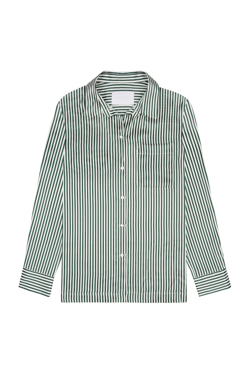 7112f8956e Our signature stripes get re-imagined for the season in our Bottle Green  Dense Line