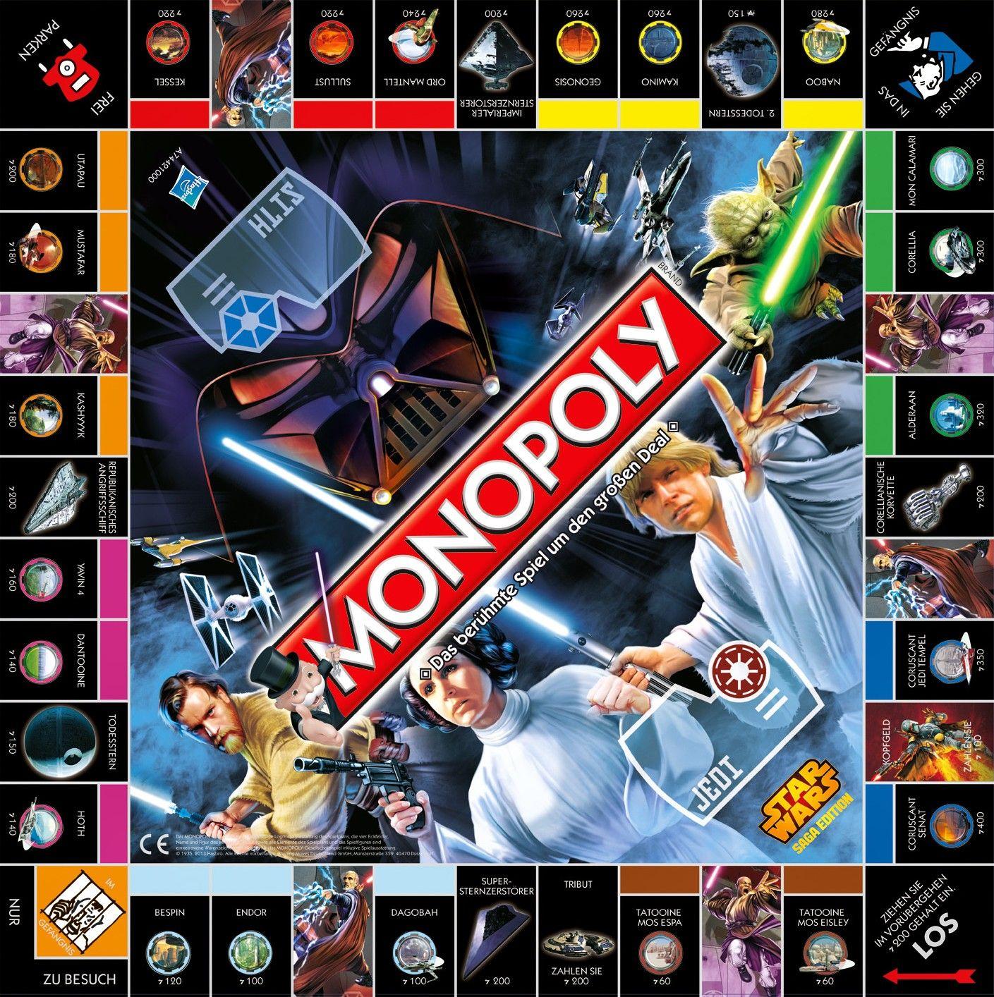 Plateau Star wars prints, Monopoly, Uno cards