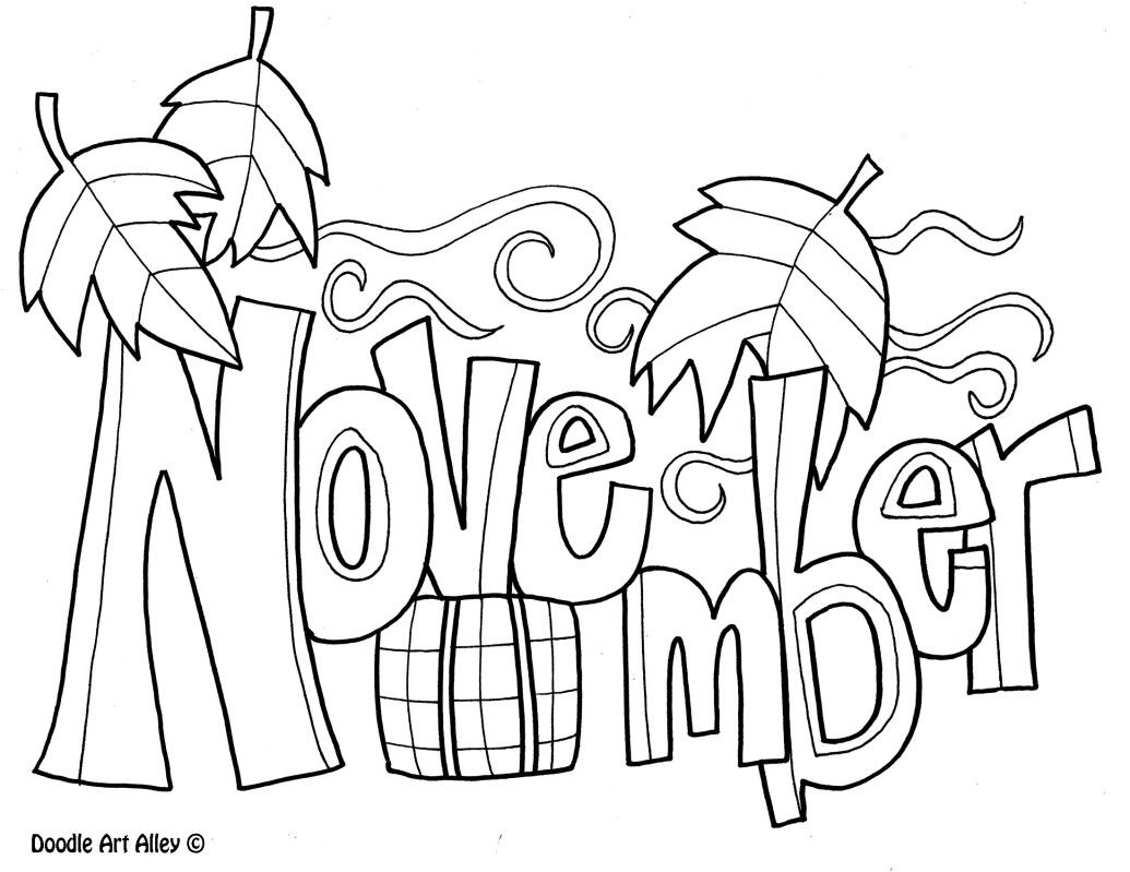 November Coloring Pages For Kids  Coloring  Pinterest  November