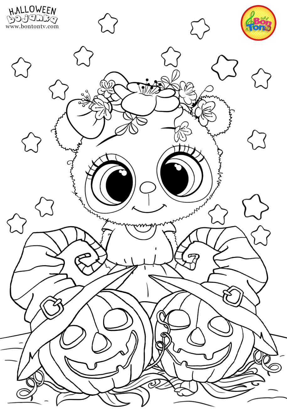 Halloween Coloring Pages For Kids Free Preschool Printables Noc Vjestica Bo Halloween Coloring Book Halloween Coloring Sheets Free Halloween Coloring Pages