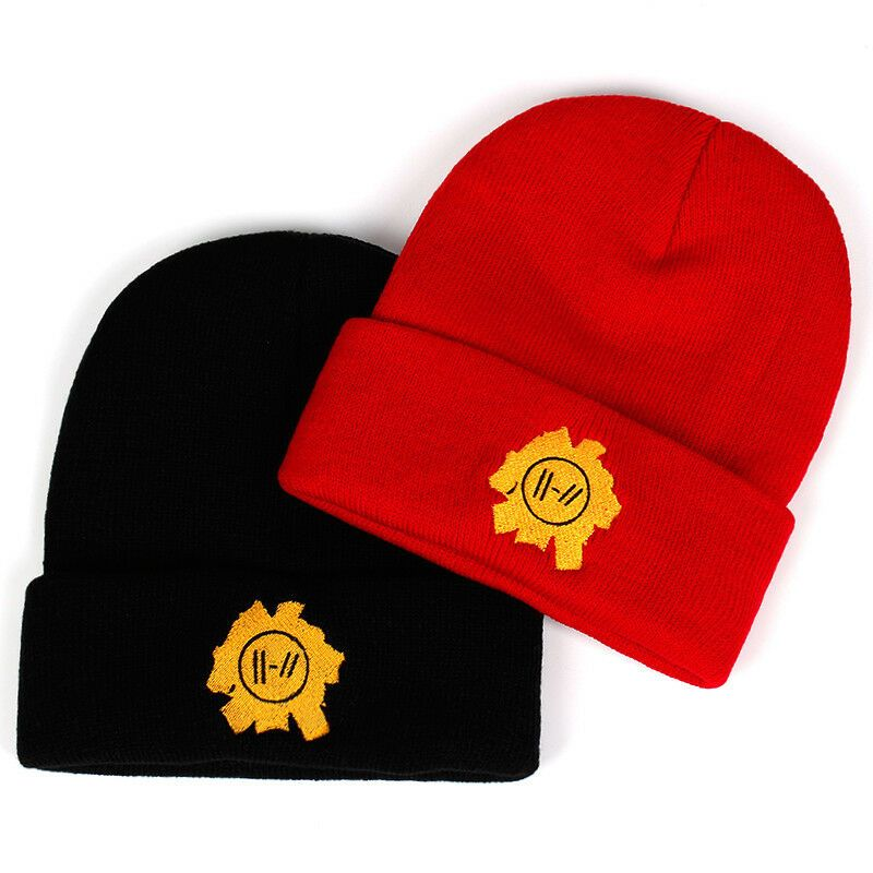 Twenty One Pilots Beanie Cap Embroidery Cosplay Costume Accessories Knitted Hat Ad Spon Cap Embro Cap Embroidery Mens Hats For Sale Twenty One Pilots Hat