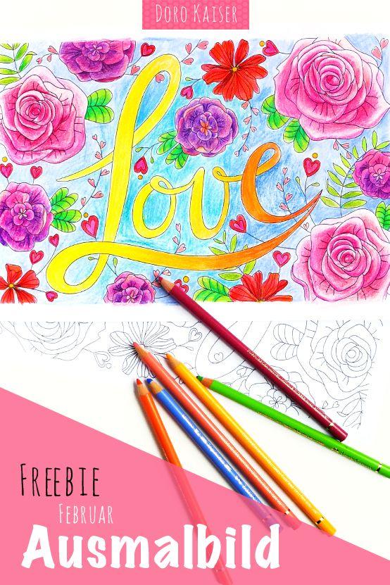 Gratis Ausmalbild Im Februar Coloring Page Liebe Zum Valentinstag Doro Kaiser Grafik Illustration Ausmalen Bilder Zum Ausmalen Ausmalbild