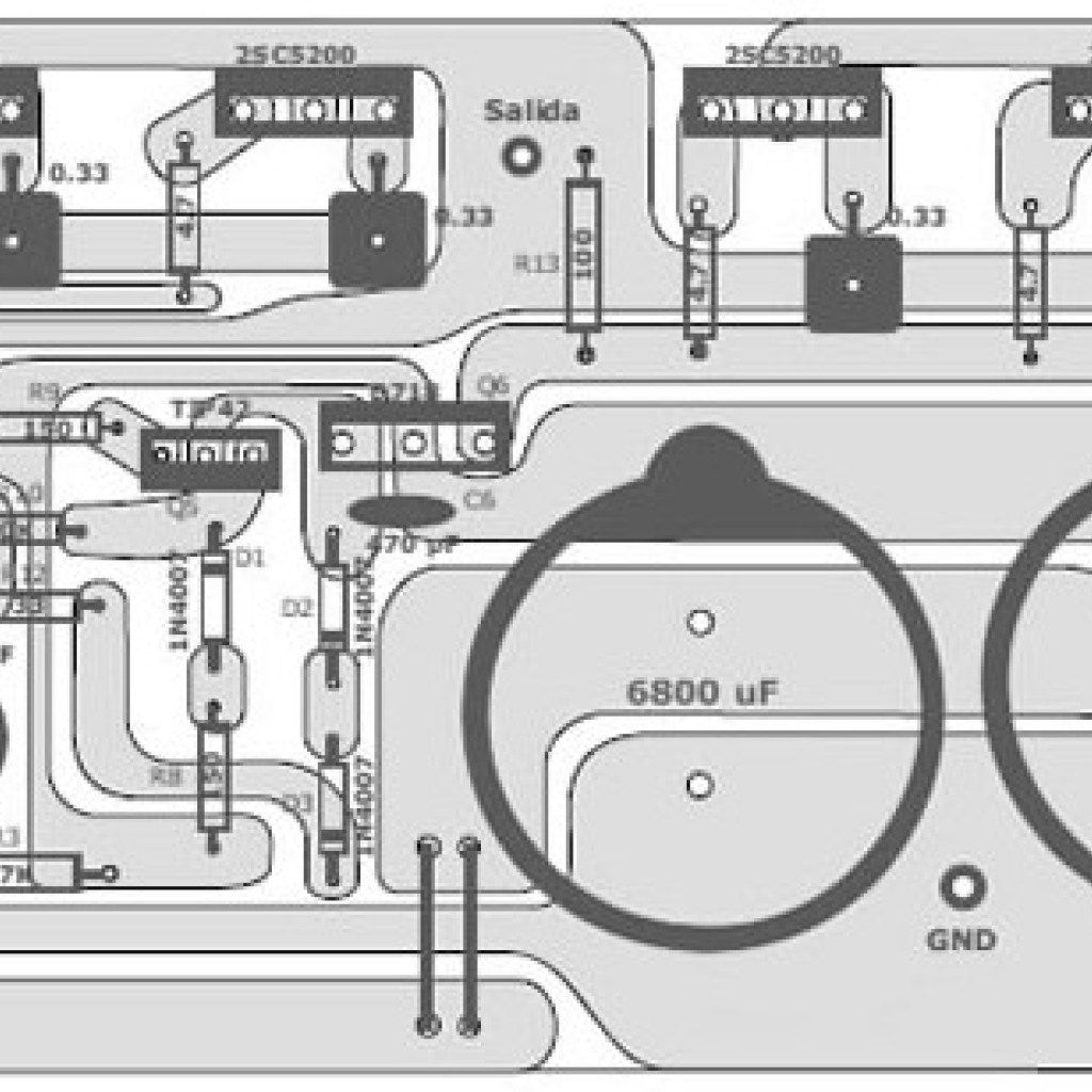400 Watt 70 Volt Amplifier For Home Audio System Based On Power Mosfet Circuit Transistor 2sc5200 Scheme Diagram And Pcb Layout Design Provided Supply Included