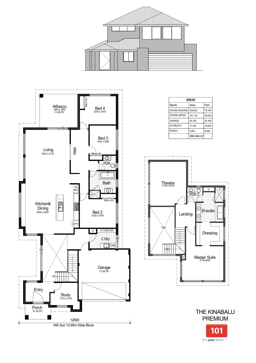 Floor Plans Of The Premium Kinabalu By 101 Residential By 101 Residential House Storey Homes House Plans