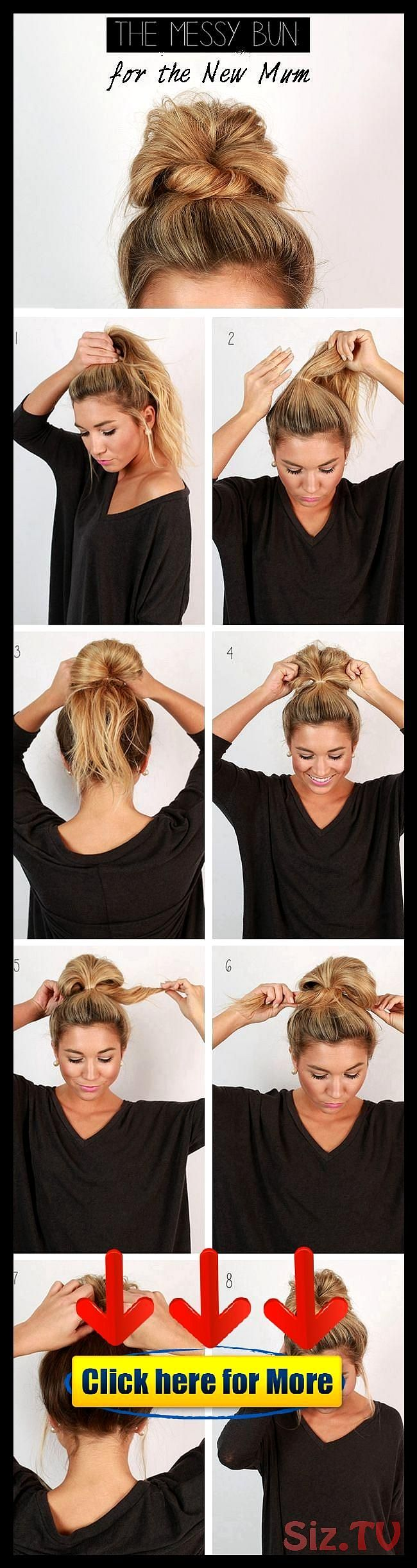 The 11 Best Easy Updo Hairstyleshairstyle hair 2019 woman man The 11 Best Easy U…