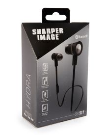 Hydra Bluetooth Wireless Earbuds - Listen to your music or talk on the phone easier than ever with these noise-isolating earbuds from Shaper Image. Features include a tangle-free flat cable, built in microphone and bluetooth wireless.