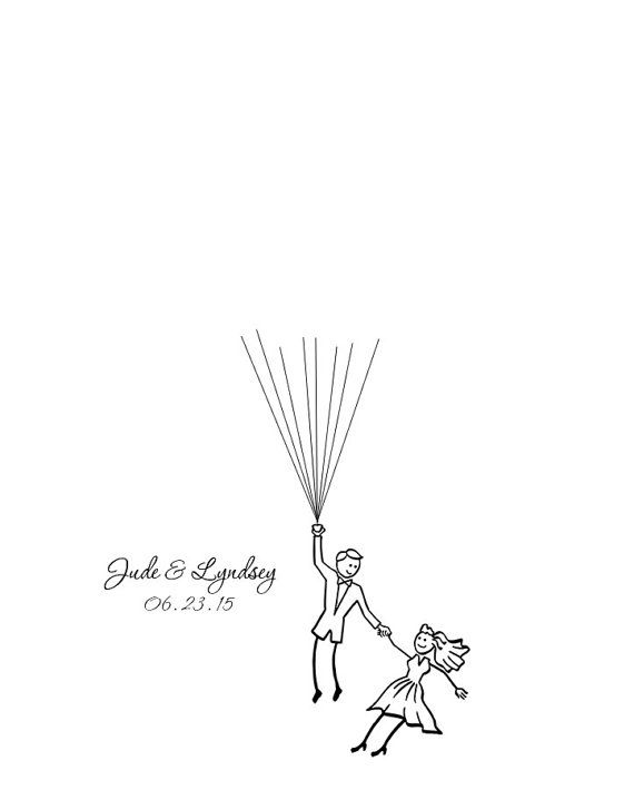A fun and unique alternative to the traditional guest book, my wedding guest balloons will give you something to admire years after your special day has passed. Details:    Size: 16 x 20 (frame and stand not included)  Artwork is printed on thick, lightly textured, acid free cotton paper Printed using archival inks        Includes:    Printed artwork  50 dots available in four monochromatic colors schemes(many guests will sign as a couple, good for 50-100 guests)  Instruction card to display ...