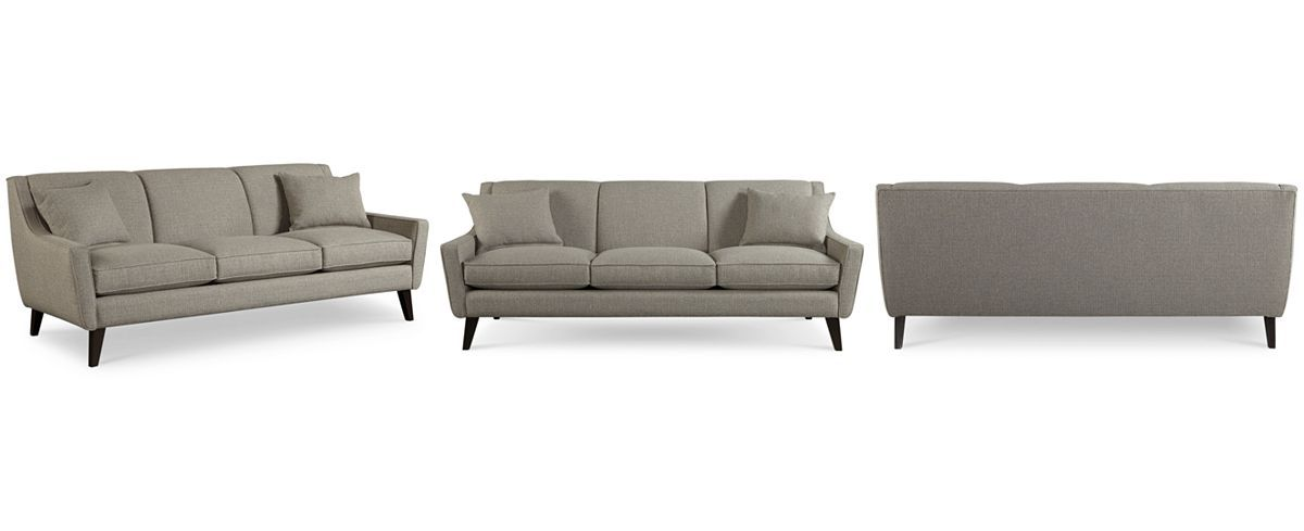 Jaylen Fabric Sofa With 2 Throw Pillows Couches Amp Sofas